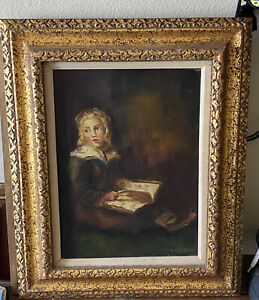 RARE Antique Oil Painting On Canvas Signed W.V.D. Vlies amp; Numbered $203.00