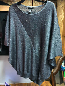 Alfani Womens Batwing Sequined Knit Top XL New Year's Eve Special Occasion $19.99