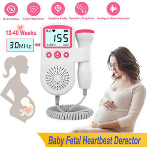 Heart Rate Monitor Home Pregnancy Display Baby Fetal Sound Heart Rate Detector $24.59