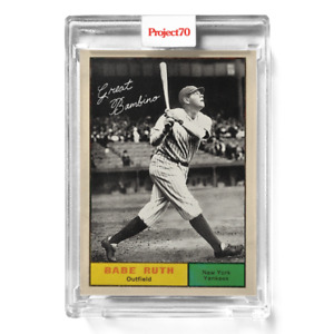 Topps Project 70 Card 633 1962 Babe Ruth by Infinite Archives PRESALE #633 $16.95