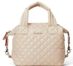 MZ WALLACE Small Sutton Crossbody Bag Tote Purse in Sesame $225 GORGEOUS