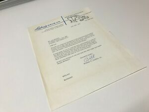 1967 Original Signed Letter from William F. Ludwig Jr. Drums to Joe Morello $100.00