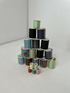 Lot of 20 Vintage Wooden Thread Spools Various Brands small medium amp; large $7.99