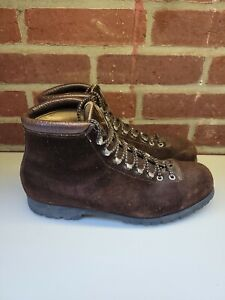 Vintage By Fabiano Woman#x27;s Ankle Brown Hiking Boots Size 11.5 M Made in Italy. $34.95