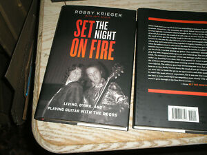 Signed 1st print edition Robby Krieger The Doors Set the Night on Fire NEW HC $40.00