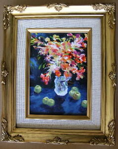 Framed Oil Painting quot;Floral N16quot; 9x11 in. $29.95
