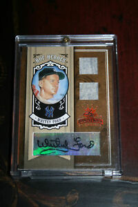 2005 Donruss DK Diamond Kings BRONZE Whitey Ford Dual Yankees Jersey Auto 5