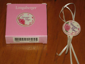 1998 Longaberger Horizon of HOPE Pottery Basket TIE ON NIB USA