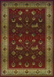 2x8 Runner Sphinx Leaves Red Oriental 112P1 Area Rug - Approx 2' 7