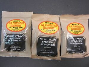 VARIETY Packs ITALIAN Sausage Seasoning LINKS for 75 lbs. Venison, Pork, Beef et