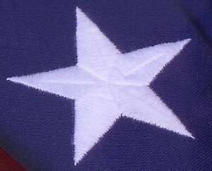Embroidered Cotton American Flags *100% Made in the U.S.* 3#x27;x5#x27; 4#x27;x6#x27; FREE S H