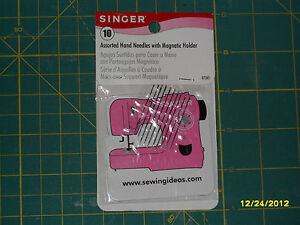 Singer ASSORTED HAND NEEDLES 10 Pack with quot;Sewing Machinequot; Magnet $6.00