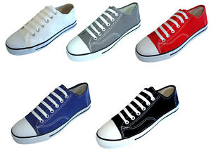New Men#x27;s Canvas Sneakers Classic Lace Up Fashion Casual Shoes Colors Size:7 13