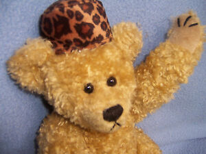 13 in. Vintage TY Plush TEDDY BEAR jointed 1993 w/hat long arms