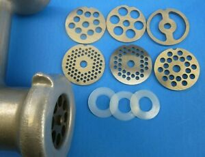 7 replacement parts for VINTAGE KitchenAid Metal Meat Grinder SEE DESCRIPTION