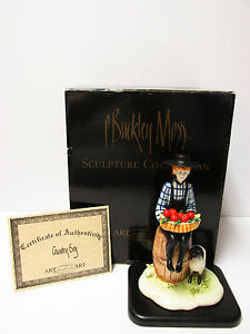P.Buckley Moss' quot;Country Boyquot; Porcelain Sculpture*New in box with COA $165.00