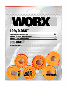 WORX WA0010 6 Pack Replacement Spools for Worx GT