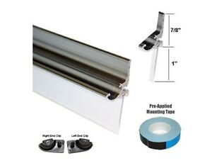 Chrome Framed Shower Door Replacement Drip Rail with Vinyl Sweep 32quot; Long