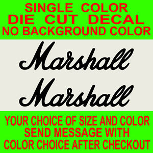 2x Marshall Amps, Vinyl Decal Die Cut, Car, Truck, Window Sticker