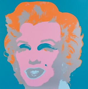 ☆ Andy Warhol (After) ☆ Sunday B. Morning Marilyn ☆ COA ☆ Blue Stamp verso ☆