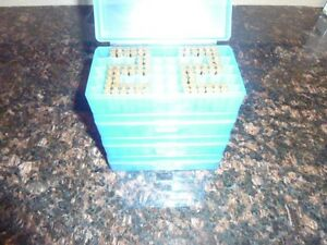 22 LR STORAGE AMMO BOXES AND 45 ACP & 40 S&W 50RDS EACH (5 PACK) (BLUE COLOR)