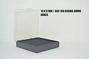 9 mm  380 Ammo cases  boxes (10 PACK) CLEAR color 1000 rnds of storage 9 mm