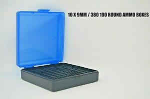 9 mm  380 Ammo cases  boxes (10 PACK) BLUE color 1000 rnds of storage