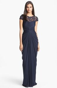 NWOT ink Adrianna Papell Lace Yoke Drape Gown size 12 $125.00