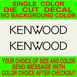 2x Kenwood Vinyl Decal Car audio stereo truck laptop skateboard sticker