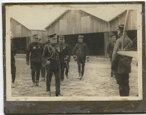 ANTIQUE PHOTO FRENCH MILITARY AT AIRFIELD EARLY 20TH CENTURY.