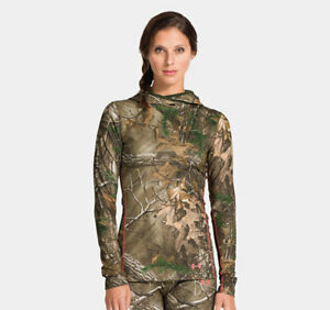 Under Armour Ladies EVO Scent Control Infrared Camo Hoodie Realtree Size Small