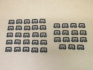 70-81 CAMARO FIREBIRD NEW FRONT AND REAR WINDOW GLASS MOLDING CLIPS SET FOR TRIM