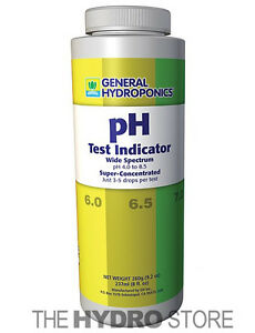 General Hydroponics pH Test Indicator 8 oz Ounces up down wide spectrum $12.74