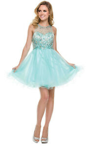 NEW SEMI FORMAL DEMURE COCKTAIL ATTIRE SHORT SWEET 16 DRESSES PROM DANCES PARTY