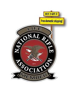 NRA Life time Patch Decal Sticker National Rifle Association Gun Rights p23