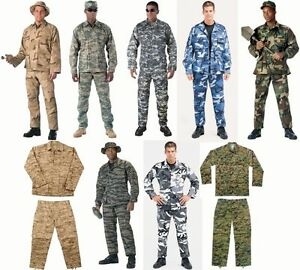 BDU SALE Military Camo Digital BDU Tactical Cargo Uniforms Top amp; Bottom Rothco $35.99