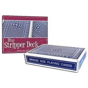 Pro Stripper Bridge Magic Deck of Cards Available In Red or Blue Card Backs $4.99