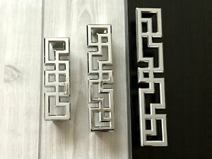 96 128 160 mm Silver Chrome Dresser Drawer Pull Handles Kitchen Cabinet Handle
