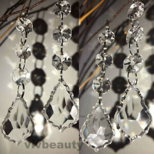 30pcs Acrylic Crystal Beads Garland Chandelier Hanging Wedding Party Decor