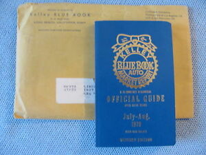 KELLEY BLUE BOOK JULY-AUG 1979 USED CAR VALUES WESTERN EDITION