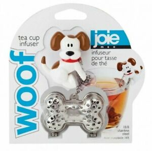 Joie Woof Loose Leaf Tea Cup 18/8 Stainless Steel Infuser - Dog Theme Steeper