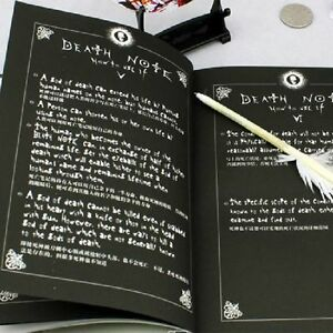 Japanese Anime Notebook Feather Pen Writing Journal Death Note Costume Cosplay