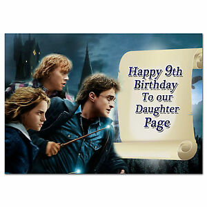 679; Harry Potter; Personalised greeting card; large a5 size; best special great