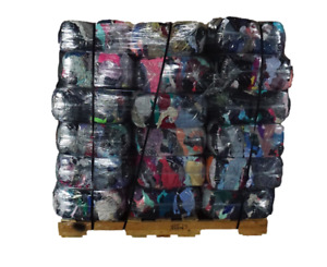 Pallet of 25 lb. Compressed Bag of Colored T-Shirt Rags (40 bags - 1000 LBs)