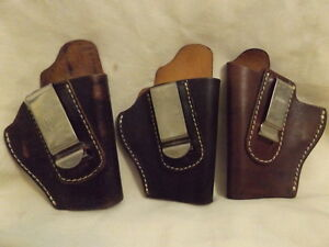 NEW GL1 FOBUS & 2 VEGA (1 NEW AND 1 USED) LEATHER HOLSTERS