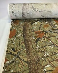 Camo Cotton Twill Fabric Skyline Apparition 2.0 Canvas 60quot;W Camouflage By The Yd