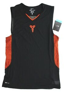 Nike Mens Dri Fit Kobe VII Sleeveless Basketball Shirt 451004 010 M L XL 2XL 3XL