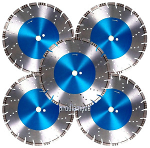 5PK 12 Rebar Hard Concrete Brick Block Paver stone Tile Diamond Saw Blade BEST