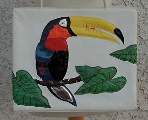 ANDRE PFISTER TOUCAN TROPICAL BIRD PURSE SNAKELIZARD SKIN - RARE VINTAGE