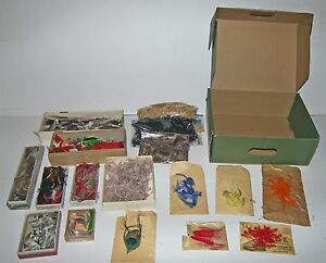 HUGE LOT! Over a Pound of Vintage Feather Fishing Lure Making Materials!
